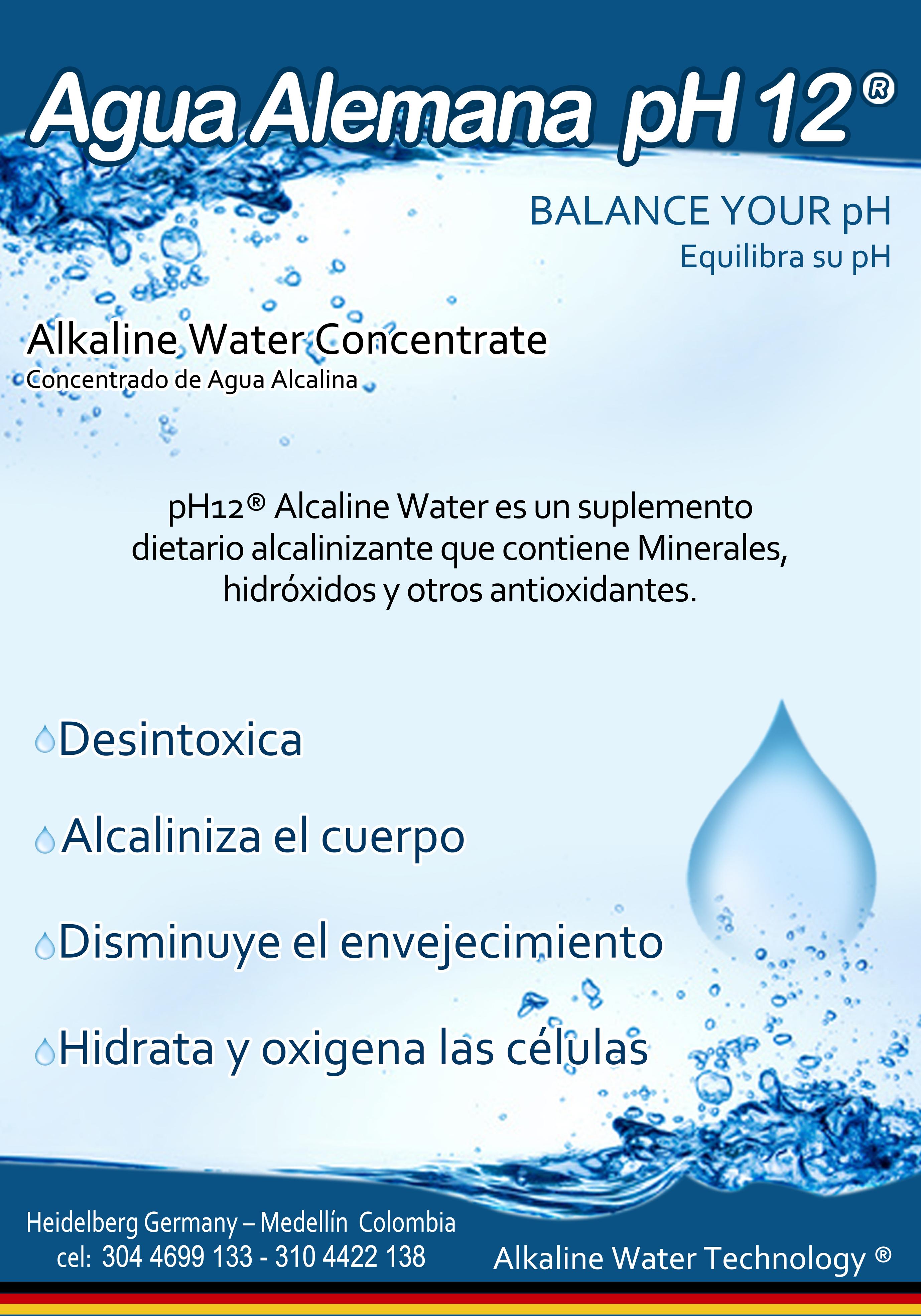 Agua alemana alcalina pH 12 Sobran los comentarios