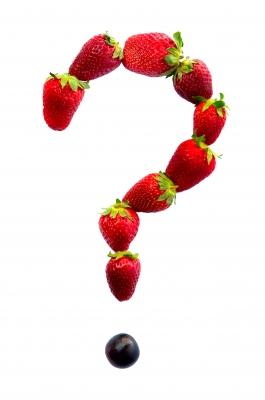 Pregunta con fresas